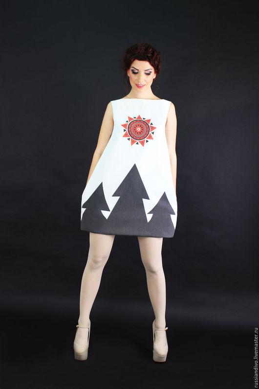 Платья ручной работы. Ярмарка Мастеров - ручная работа. Купить Платье Ёлки Мини. Handmade. Комбинированный, платье коктейльное