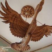 """Для дома и интерьера ручной работы. Ярмарка Мастеров - ручная работа Потолочная люстра из дерева """"Птица Счастья"""". Handmade."""