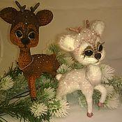Куклы и игрушки handmade. Livemaster - original item Christmas the fawn, ginger Powder. Handmade.
