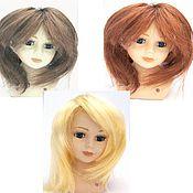Материалы для творчества ручной работы. Ярмарка Мастеров - ручная работа парик для кукол волосы прямые блонд, каштан, медь  Д5см длина 17см. Handmade.