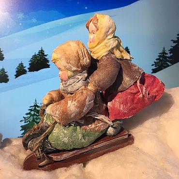 Куклы и игрушки. Ярмарка Мастеров - ручная работа Зимние забавы. Handmade.