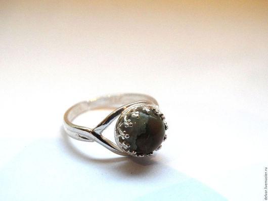 Кольца ручной работы. Ярмарка Мастеров - ручная работа. Купить Серебряное кольцо с риолитом. Handmade. Разноцветный, кольцо с риолитом