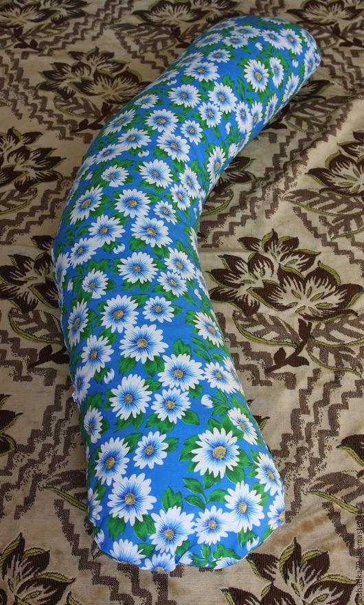 Текстиль, ковры ручной работы. Ярмарка Мастеров - ручная работа. Купить Подушка для беременных и кормления малыша. Handmade. Синий