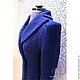 Верхняя одежда ручной работы. Синее пальто . Татьяна Дьяченко. Ярмарка Мастеров. Пальто демисезонное, стиль 60-х, кашемир