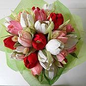 Букеты ручной работы. Ярмарка Мастеров - ручная работа Весенние тюльпаны. Handmade.