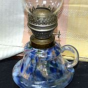 Винтаж handmade. Livemaster - original item Antique oil lamp glass beautiful color. Handmade.