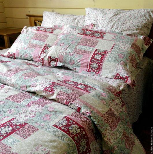 """Текстиль, ковры ручной работы. Ярмарка Мастеров - ручная работа. Купить Комплект постельного белья """"Из бабушкиного сундука"""". Handmade."""
