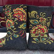Обувь ручной работы. Ярмарка Мастеров - ручная работа Валенки   Хохлома. Handmade.