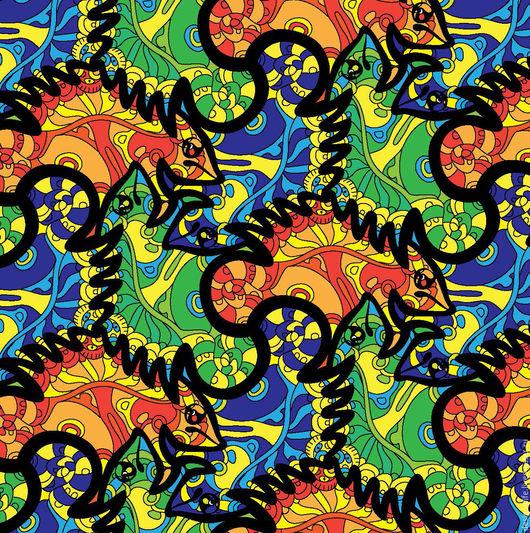 Иллюстрации ручной работы. Ярмарка Мастеров - ручная работа. Купить Бесконечный орнамент. Handmade. Комбинированный, бесшовный