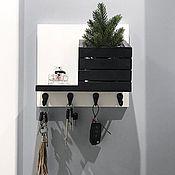 handmade. Livemaster - original item Housekeeper wall-mounted black and white. Handmade.