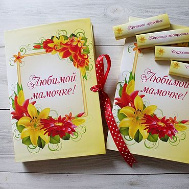 Сувениры и подарки ручной работы. Ярмарка Мастеров - ручная работа Шокобокс SHOKOBOX с лилиями, конфетами и пожеланиями. Handmade.