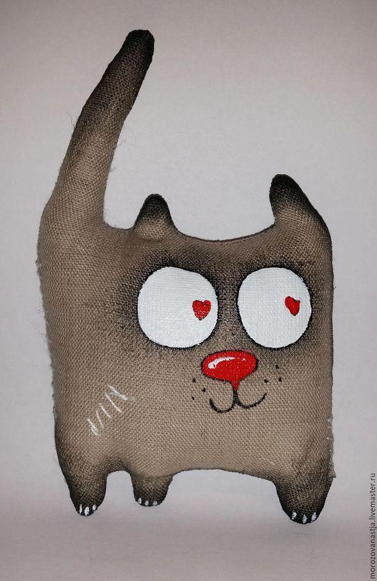 Игрушки животные, ручной работы. Ярмарка Мастеров - ручная работа. Купить Кот. Handmade. Серый, котик, коты, кот в подарок