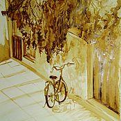 Картины и панно ручной работы. Ярмарка Мастеров - ручная работа Кофейный аромат - Жара. Handmade.