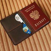 Wallets handmade. Livemaster - original item Documentsize genuine leather (deckholder) - Yauza. Handmade.