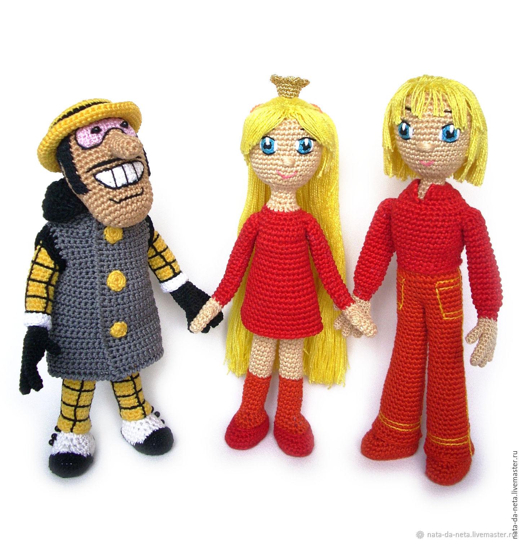 2231ac00fec5 Надежда · Сказочные персонажи ручной работы. Бременские  музыканты.Гениальный Сыщик.Кукла вязаная игровая.