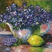 Картины и панно handmade. Livemaster - original item Oil painting Bouquet of violets. Handmade.