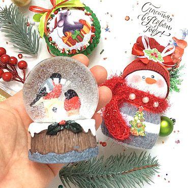 Сувениры и подарки ручной работы. Ярмарка Мастеров - ручная работа Новогодний подарок Снежный шар. Handmade.
