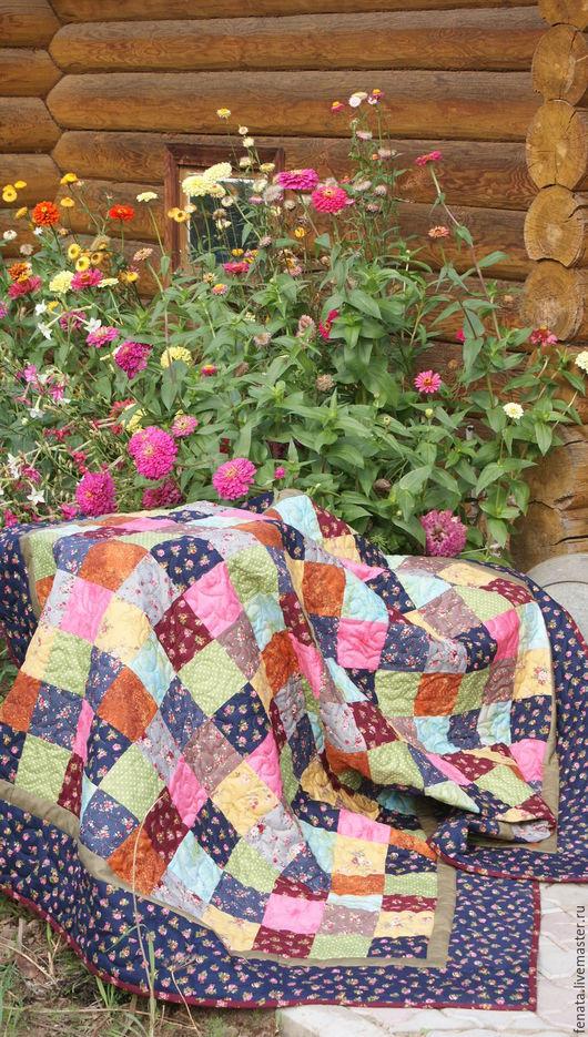Текстиль, ковры ручной работы. Ярмарка Мастеров - ручная работа. Купить Лоскутное одеяло в русском стиле №7. Handmade. лоскутный