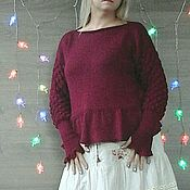 Одежда handmade. Livemaster - original item Sweater made of wool with silk. Handmade.