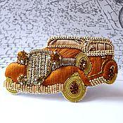 Украшения ручной работы. Ярмарка Мастеров - ручная работа Брошь Ретроавтомобиль. Handmade.