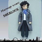 Схемы для вязания ручной работы. Ярмарка Мастеров - ручная работа Шерлок амигуруми Мастер класс - игрушка крючком мужская фигура. Handmade.