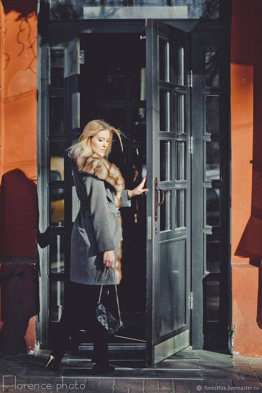 Зимнее пальто с мехом куницы – купить в интернет-магазине на Ярмарке ... 11b740bcd38f8