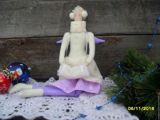 Куклы Тильды ручной работы. Ярмарка Мастеров - ручная работа. Купить Зимний Ангел в стиле Тильда.. Handmade. Комбинированный