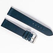 Украшения handmade. Livemaster - original item Dark blue genuine leather strap. Handmade.