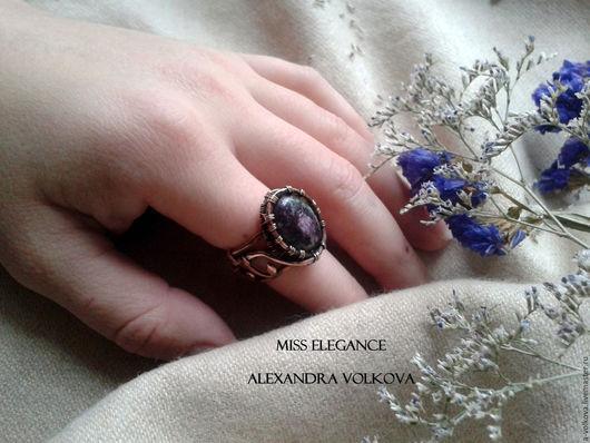 Кольца ручной работы. Ярмарка Мастеров - ручная работа. Купить Перстень с цоизитом. Handmade. Тёмно-зелёный, темно-зеленое кольцо