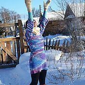 Одежда handmade. Livemaster - original item Rainbow Winter tunic. Handmade.
