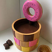 "Candy Dishes handmade. Livemaster - original item Конфетница ""Пончик"". Handmade."
