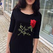 """Одежда ручной работы. Ярмарка Мастеров - ручная работа Платье""""Красная роза"""". Handmade."""