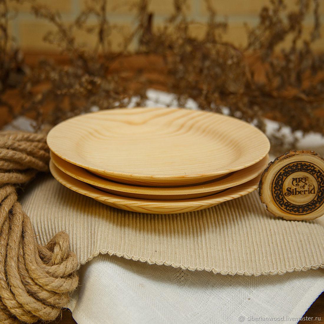 Set of wooden plates 3 PCs (19#40, Plates, Novokuznetsk,  Фото №1