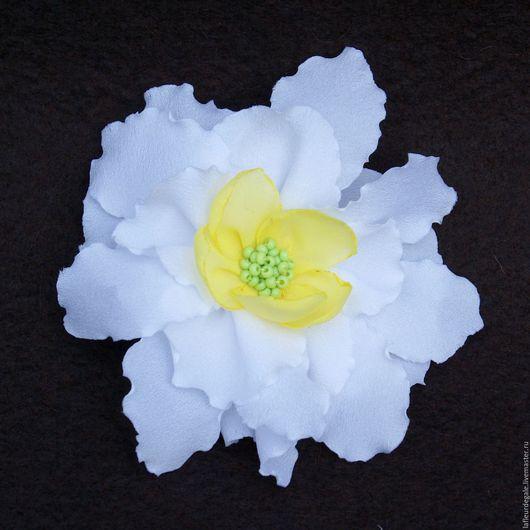 Заколки ручной работы. Ярмарка Мастеров - ручная работа. Купить «Даффодил» («Daffodil»).. Handmade. Белый с желтым, цветок ручной работы