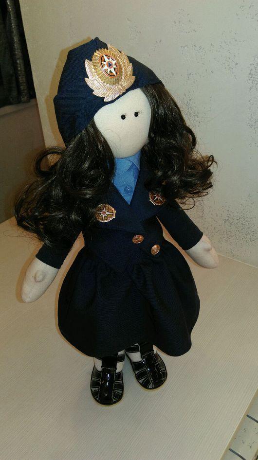 Коллекционные куклы ручной работы. Ярмарка Мастеров - ручная работа. Купить Кукла МЧС. Handmade. Кукла интерьерная, большеножка, хлопок