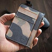 Сумки и аксессуары handmade. Livemaster - original item Wallet zipper zipper Camouflage military wax. Handmade.