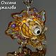 Кулон `Золотая рыбка` из стекла подарок подруге , подвеска рыбы