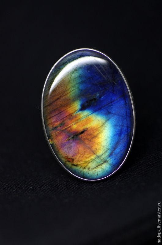 """Кольца ручной работы. Ярмарка Мастеров - ручная работа. Купить Кольцо с спектролитом """" Ты - моя вселенная"""", серебро. Handmade."""