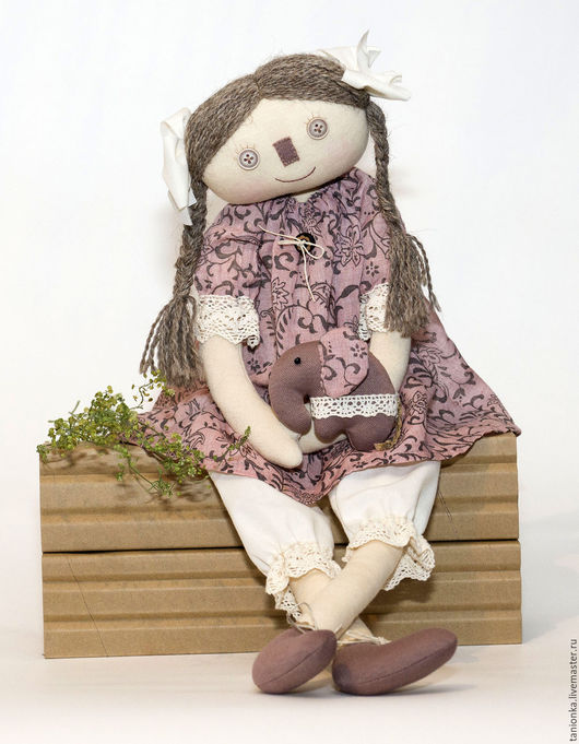 Коллекционные куклы ручной работы. Ярмарка Мастеров - ручная работа. Купить Текстильная авторская кукла Эльза со слоником. Handmade.