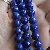 Материалы для творчества handmade. Livemaster - original item Afghan lapis smooth beads 10 pads mm. Handmade.