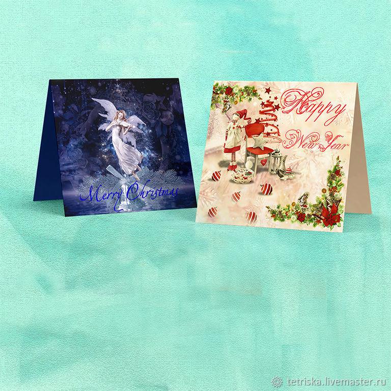 открытки к Новому году и Рождеству, Иллюстрации, Санкт-Петербург,  Фото №1