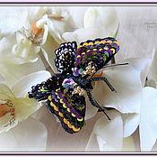 """Украшения ручной работы. Ярмарка Мастеров - ручная работа """"Black butterfly"""" Брошь. Handmade."""