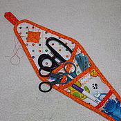 Материалы для творчества handmade. Livemaster - original item Case for scissors, organizer for needlework, Seals, textiles. Handmade.