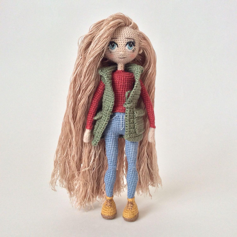 Кукла каркасная вязаная крючком – купить в интернет ...