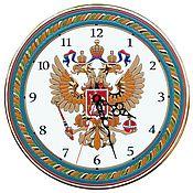 Для дома и интерьера ручной работы. Ярмарка Мастеров - ручная работа часы с символикой России, декоративные,керамические,круглые. Handmade.