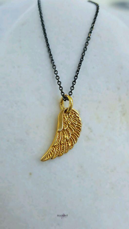 """Колье, бусы ручной работы. Ярмарка Мастеров - ручная работа. Купить Колье ,крыло ангела,""""Ангел хранитель"""". Handmade. Подарок"""