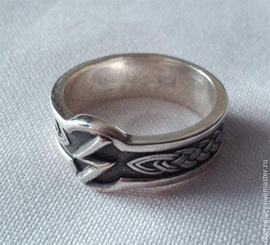 Кольцо с Руной Соулу из серебра с черением 4-6 грамм -1100руб. Под заказ 5дн.;