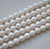 Материалы для творчества handmade. Livemaster - original item Swarovski pearls 6mm White Pearlescent. Handmade.