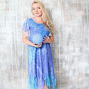 """Одежда ручной работы. Ярмарка Мастеров - ручная работа Авторское валяное платье """"Sapphire summer"""". Handmade."""