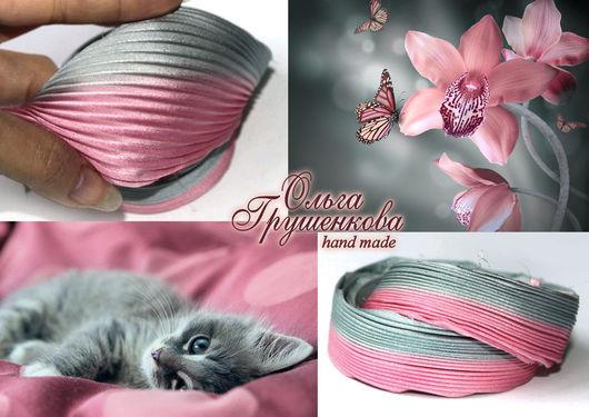 Лента шибори `Розовая дымка` №24